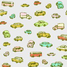 patternsbymarie:  little retro cars | grey