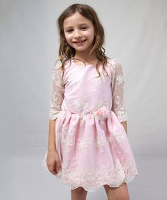 Look at this Blush Grace Lace Dress - Toddler & Girls on #zulily today!