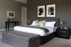 Lenrock Showhouse Grey Bedroom Bedroom Balcony, Duck Egg Blue, Bedroom Styles, Decoration, Master Bedroom, Bedrooms, Sweet Home, New Homes, Comfy