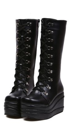 Black Lolita Platform Boots...Why can't I wear these everyday?