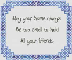 Boarder for Irish Wedding Blessing Gaelic Blessing, Irish Wedding Blessing, Cross Stitch Boarders, Cross Stitch Patterns, Celtic Cross Stitch, Cross Stitch Embroidery, Vintage Embroidery, Embroidery Patterns, Celtic Images