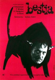 Brute, The, Polish Movie Poster Polish Movie Posters, Film Posters, Saul Bass, Graphic Design Posters, Graphic Art, Ballet Posters, Pop Art, Poster Boys, Magazine Design