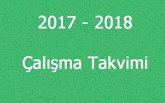 Bt ve Yazilim Dersi: 2017 - 2018 Eğitim Öğretim Yılı İş Günü Takvimi