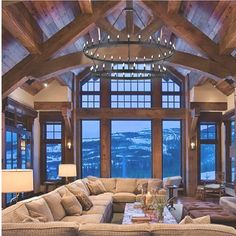 amazing living room for a mountain house or my future house in Jacksonville lol Future House, House Goals, Design Case, Wall Design, Ceiling Design, Life Design, Design Bedroom, Design Design, Style At Home