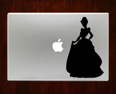 Cinderella Disney Princess Girl Decal Stickers For Macbook 13 Pro Air Decals #RusticDecal