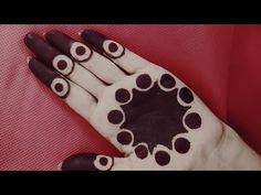 Traditional floral gol tipki mehendi design / satisfying to watch easy to apply gol tikki tutorial Basic Mehndi Designs, Henna Tattoo Designs Simple, Finger Henna Designs, Henna Art Designs, Mehndi Designs For Beginners, Mehndi Designs For Girls, Mehndi Design Photos, Mehndi Designs For Fingers, Beautiful Henna Designs