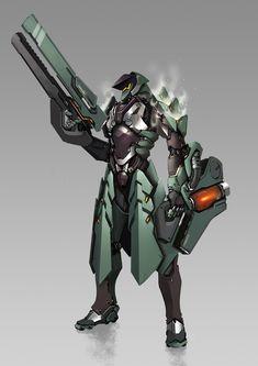 ArtStation - 青龙V2, Hirada Hirao Fantasy Character Design, Character Design Inspiration, Character Concept, Character Art, Arte Robot, Robot Art, Robot Concept Art, Armor Concept, Mode Cyberpunk