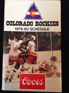 4dbd75da3c0 1979-80 COLORADO ROCKIESNHL HOCKEY POCKET SCHEDULE VTG COORS McNICHOLS  ARENA in Sports Mem