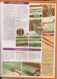 evia telar 2 2006 - Daina Veide - Álbuns da web do Picasa Loom Weaving, Tapestry Weaving, Textiles, Weaving Projects, Knit Mittens, Rug Hooking, Textile Art, Knit Crochet, Knitting