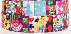 Hey, I found this really awesome Etsy listing at https://www.etsy.com/listing/277506486/alice-1-grosgrain-ribbon-alice-in