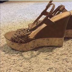 Madden girl wedges Never worn!! Madden Girl Shoes
