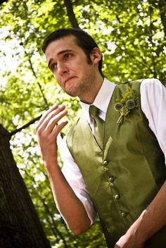 adorable groom (and fantastic wedding)