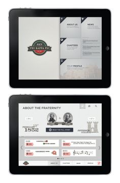 Fraternity iPad App UI Design by Zach Ubbelohde, via Behance