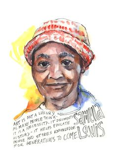 Portfolio — Artist Lydia Makepeace History Posters, Art History, Audre Lorde Quotes, Art Certificate, Artist Wall, Postcard Printing, African American Art, Black Artists, Female Portrait