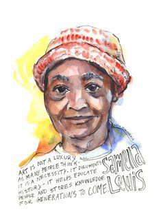 Portfolio — Artist Lydia Makepeace History Posters, Dillard University, Audre Lorde Quotes, Art Certificate, Quote Prints, Art Prints, Artist Wall, Female Portrait, Postcard Printing