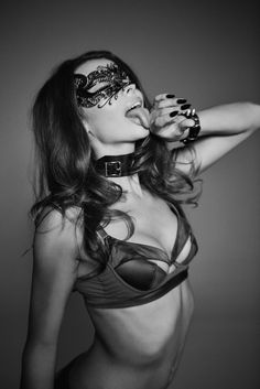 Seductive Image of the Lascivious Jade Bra featured in Live Fast Magazine by photographer Derek Wood & model Roxanna Dunlop