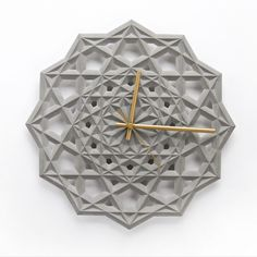 Concrete Geometric Wall Clock – Fubiz Media
