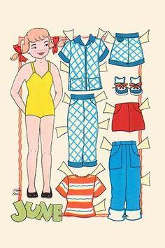 June - Dress up Doll