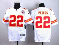 fd71c83e3 Nike Kansas City Chiefs 22   Marcus Peters white Elite Jersey Emmanuel  Sanders