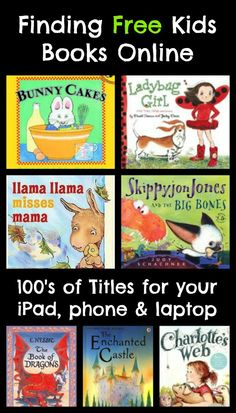 TONS of great free books for kids you can find online for your iPad, smartphone, Kindle or computer!