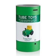 Tube Toys es una serie de vehículos de juguetes formados a partir de su mismo empaque diseñados por Oscar Díaz. Esta serie de juguetes ecológicos fueron presentados durante la feria internacional del regalo de Nueva York.