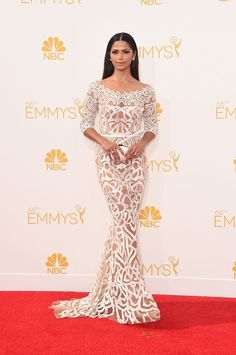 BEST: Camilla Alves in Zuhair Murad. I like this dress because of the interesting graphic pattern and the visual effect it has.