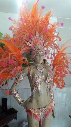 Tropical Exuberance Pink & Orange Samba Complete 10 Piece Costume – BrazilCarnivalShop