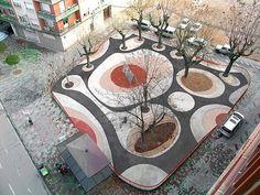 Dario Perez Square. Designed by Sergio Sebastián. Located at Calatayud, Zaragoza, Spain. -The LA Team  www.landarchs.com