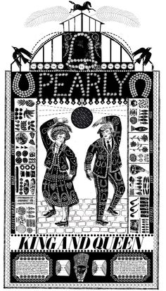 Pearly King and Queen - Alice Pattullo Illustration