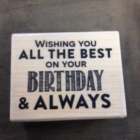 Stempel Wishing you birthday 6,5 x 5 cm - Kimya verpakkingen
