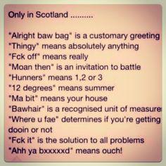Scottish Slang- so funny because it's true!!