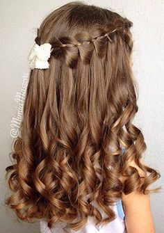 Bridal Hairstyles for Perfect Big Day; Braid styles for long Bridal Hairstyles for Perfect Big Day; Braid styles for long or medium length hair; Easy hairstyles for women. Kids Hairstyles For Wedding, Flower Girl Hairstyles, Weave Hairstyles, Cool Hairstyles, Bridal Hairstyles, Hairstyle For Kids, Bridesmaid Hairstyles, Hairstyles 2016, Elegant Hairstyles