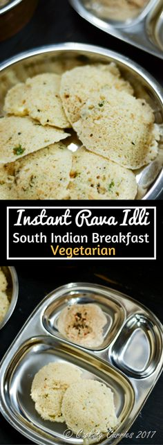 Instant Rava Idli - A South Indian Breakfast Recipe Healthy and instant Rava Idlis can be made under half an hour, when you run out of other breakfast options for the week. Serve them alongside your favorite side of sambar or chutney and help you and fam Vegetarian Breakfast, Breakfast For Dinner, Healthy Breakfast Recipes, Brunch Recipes, Vegetarian Recipes, Breakfast Options, Cooking Recipes, Breakfast Cooking, Breakfast Toast