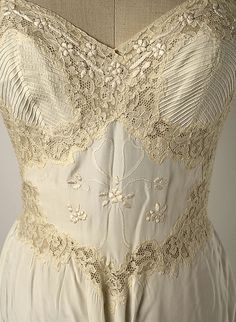 1956 lacy nightgown bodice  #Vintage #nude #lingerie #laced #bustier dress