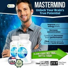 Mastermind is the #1 natural cognitive enhancer that can noticeably improve your focus and increase brain activity within the first week, as well as increase your energy levels, and get rid of that feeling of mental fatigue forever!  Free trial