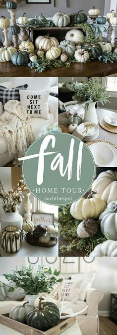 Fall Decor Ideas - From the family room to the farm table centerpiece, I& s. Fall Decor Ideas – From the family room to the farm table centerpiece, I& sharing simple ideas for DIY fall decorating that will add a rustic touch to your modern farmhouse. Interior Design Minimalist, Home Decoracion, Diy Décoration, Easy Home Decor, Decoration Home, Deco Table, Farm Table Decor, Autumn Home, Autumn Inspiration