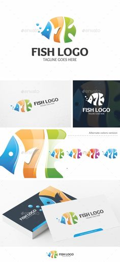 Fish Logo - Logo Template Vector EPS, AI Illustrator. Download here: https://graphicriver.net/item/fish-logo-logo-template/17109355?ref=ksioks