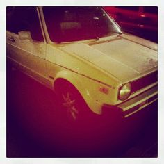 Vintage  Volkswagen cabriolet......My Gretchen Little White Rabbit '87
