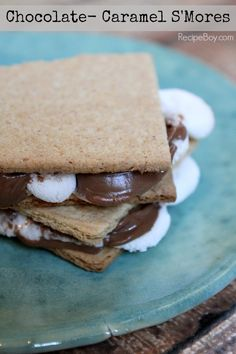 Chocolate Caramel S'Mores #recipe - RecipeBoy.com