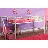 Found it at Wayfair - Junior Twin Loft Bed with Storage Steps