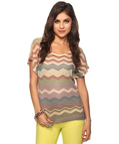 Zigzag stripes top...Forever 21. Bought it.