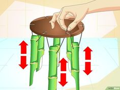 How to Make a Bamboo Wind Chime (with Pictures) - wikiHow Bamboo Wind Chimes, Diy Wind Chimes, Carillons Diy, Bamboo Canes, Bamboo Art, Bamboo Furniture, Suncatchers, Crafty, Images