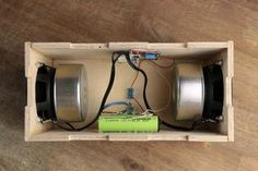 Make Your Own Simple & Cheap Portable Bluetooth Speaker : 5 Steps (with Pictures) Bluetooth Arduino, Diy Bluetooth Speaker, Desktop Speakers, Diy Speakers, Arte Bar, Diy Boombox, Homemade Speakers, Cheap Speakers, Speaker Box Design