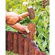 Shop garden edging wood, wooden lawn edging and wooden garden edging at Homebase. The perfect way to keep your garden neat & tidy. Wooden Garden Edging, Wood Edging, Lawn Edging, Garden Borders, Garden Trellis, Garden In The Woods, Lawn And Garden, Log Roll Edging, Flower Bed Edging