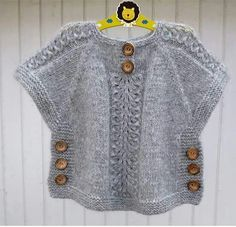"""Birinci [   """"knit sweater tunic poncho with side buttons kids sweater"""",   """" Idea for poncho like top"""",   """"j aimerais avoir les explications sv p merci"""",   """"haven"""