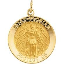 Sterling Silver Antiqued Saint Anthony Medal 1.38 in x 0.98 in