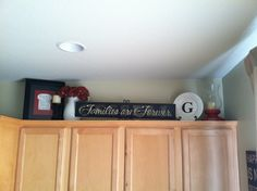 decorating ideas for above kitchen cabinets | Decorating Above Kitchen Cabinets For Christmas: Endless Crafting Text ...