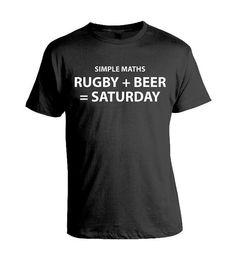 Eenvoudige wiskunde  Rugby  bier  zaterdag  grappig door DogsDonuts