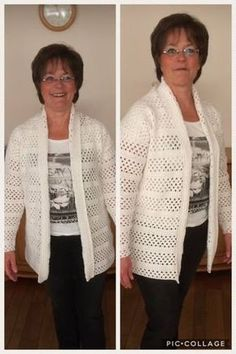 Summertime!!! Een heerlijk basic vest dat je niet meer uit wilt!Ook super leuk om te dragen als jasvervanger op een frisse zomeravond! Crochet Jacket, Crochet Cardigan, Thread Crochet, Knit Crochet, Knitting Patterns Free, Crochet Patterns, Crochet Bodycon Dresses, Shrugs And Boleros, Beautiful Crochet