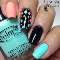 polka dots nail nail designs are so perfect for fall-winter! Hope they can i. - The polka dots nail nail designs are so perfect for fall-winter! Hope they can i.The polka dots nail nail designs are so perfect for fall-winter! Hope they can i. Nail Art Vernis, Nail Lacquer, Nail Polish, Nail Nail, Fancy Nails, Trendy Nails, Diy Nails, Nagellack Design, Nagellack Trends